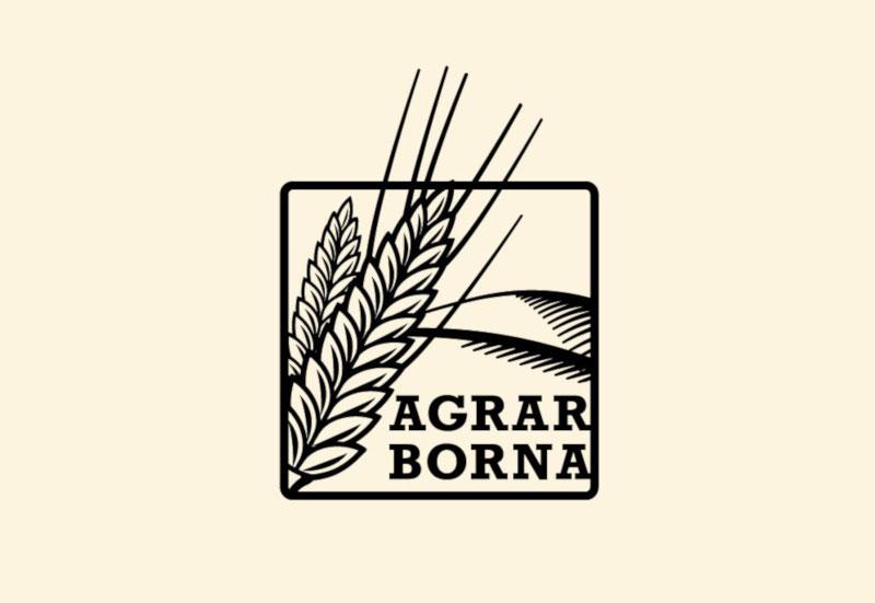 Quadratisches-Logo-Design-Agrar-Borna