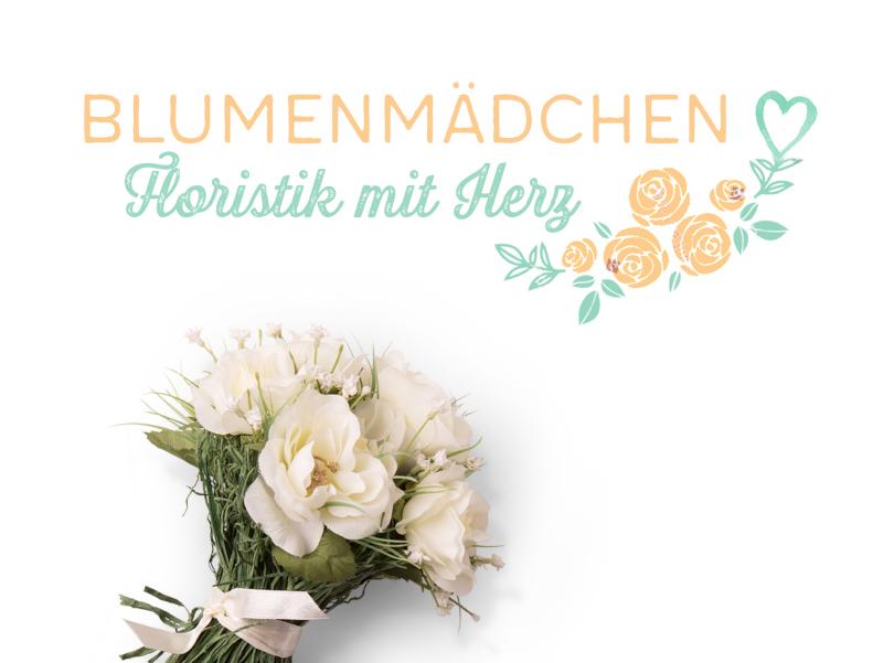 Blumenladen-Logo-Design-Blumenmädchen-Floristik-mit-Herz