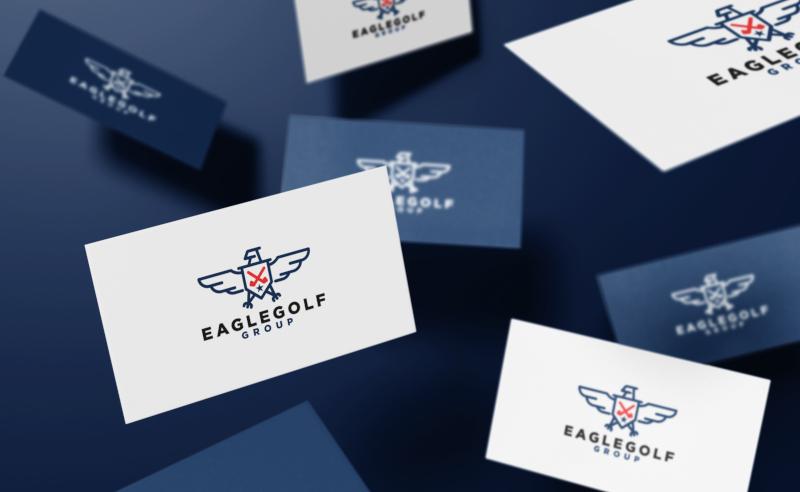 Eagle-Gold-Logo-Design-mit-Adler