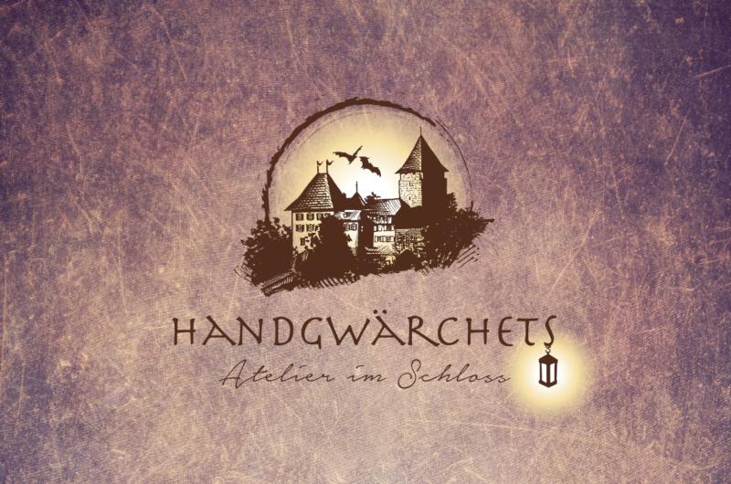 Handgwärchtes Atelier Kreatives Logo Illustration