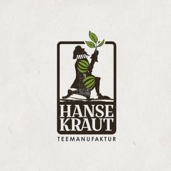 Kreatives Logo illustriert Hansekraut Teemanufaktur