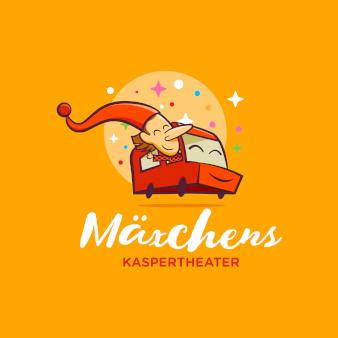 Mäxchens-Kaspertheater-Kreative-Logos-Illustration