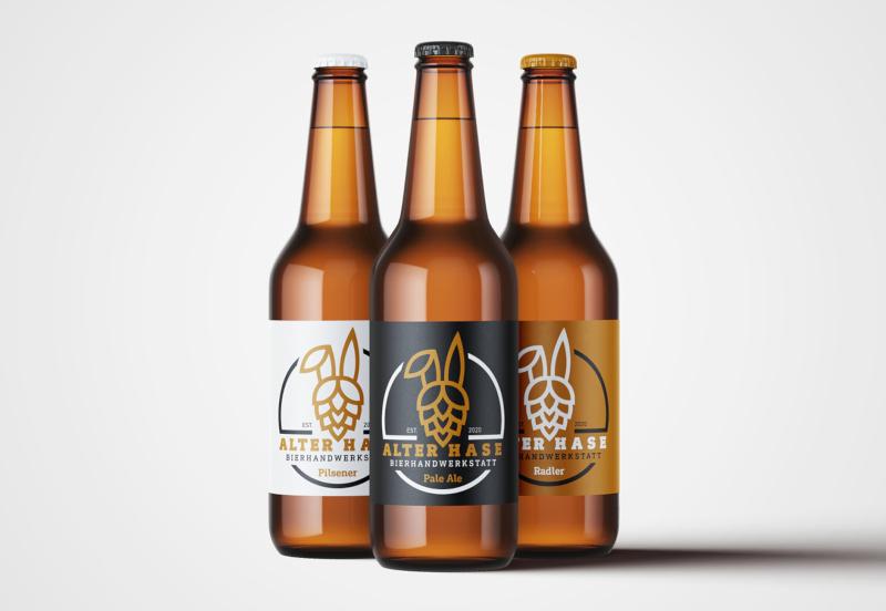 Alter-Hase-Bierhandwerkstatt-Logo-Design-fuer-modernes-Unternehmen