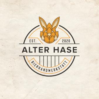 Alter-Hase-Bierhandwerkstatt-kreative-Unternehmenslogo-Designs