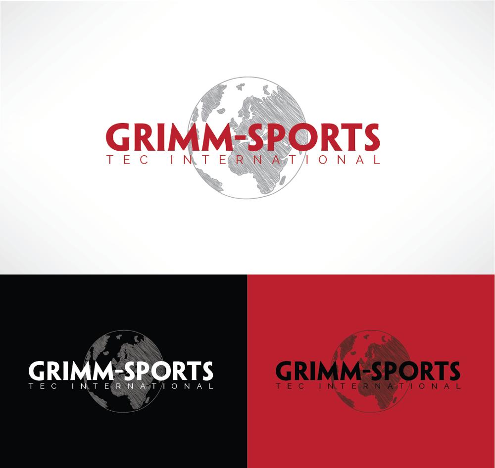 Erde Logo für Sportgeräte Hersteller Grimm-Sports