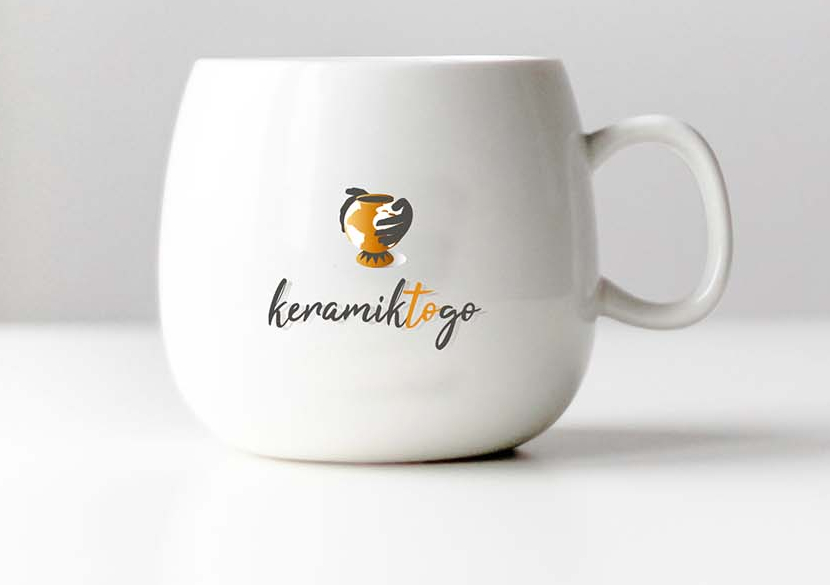 Erde Logo für Keramik to go