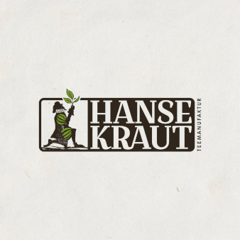 Kreatives Logo-Design Hansekraut Teemanufaktur