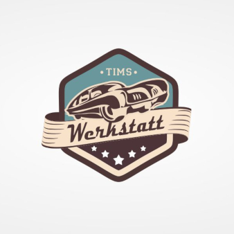 Tims-Werkstatt-Unternehmenslogo-Emblem