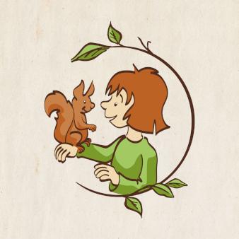 Das beste illustrierte Logo für Waldkindergarten