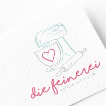 Die Feinerei Backen mit Herz das beste Logo designenlassen.de Designer