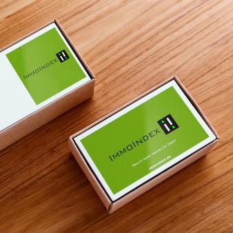 ImmoIndex Visitenkarten- Design Immobilienmakler
