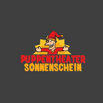 Puppentheater-Sonnenschein-Logo-Design-Entertainment