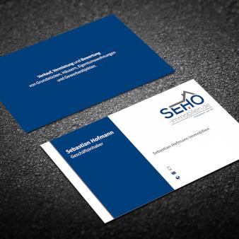 SEHO-Immobilienmakler-Visitenkarten-Design