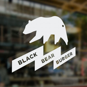 Black Bear Burger Logo-Design
