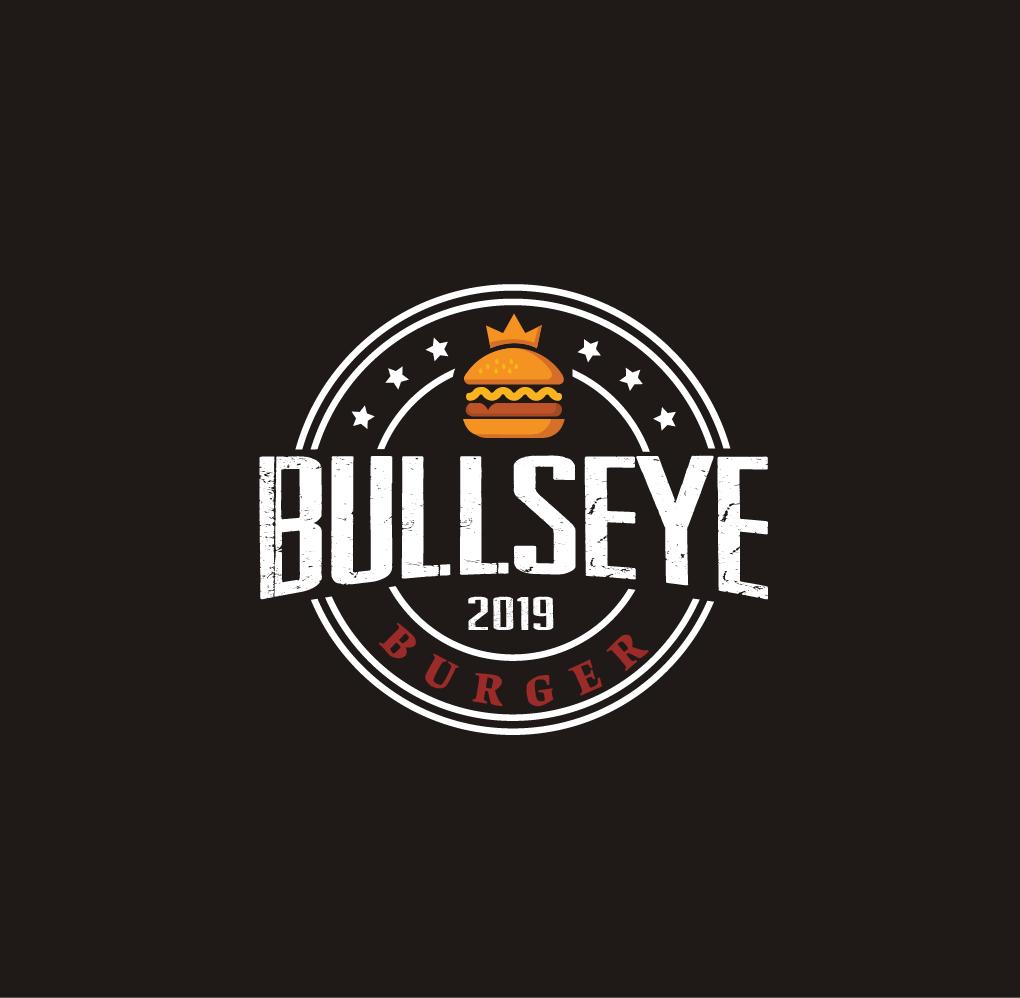 Bullseye-Burger-Logo-Design-Burger