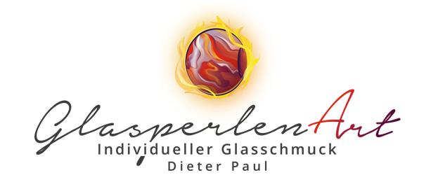 Flammen Logo. Glasperlendesign