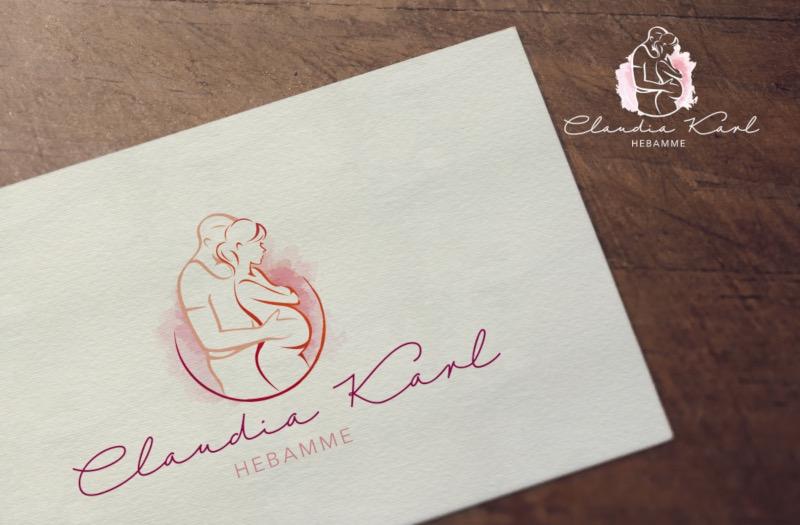 Claudia-Karl-Hebamme-Feminines-Logo