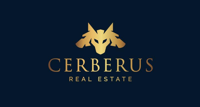 Cerberus-Real-Estate-Logo-Design-Metallic