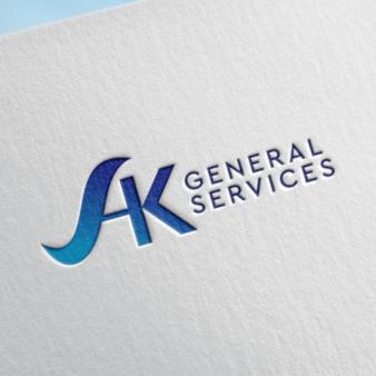 General Services Logo mit Farbverlauf