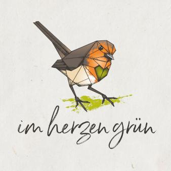 Im Herzen grün Logo nachhaltiges Design