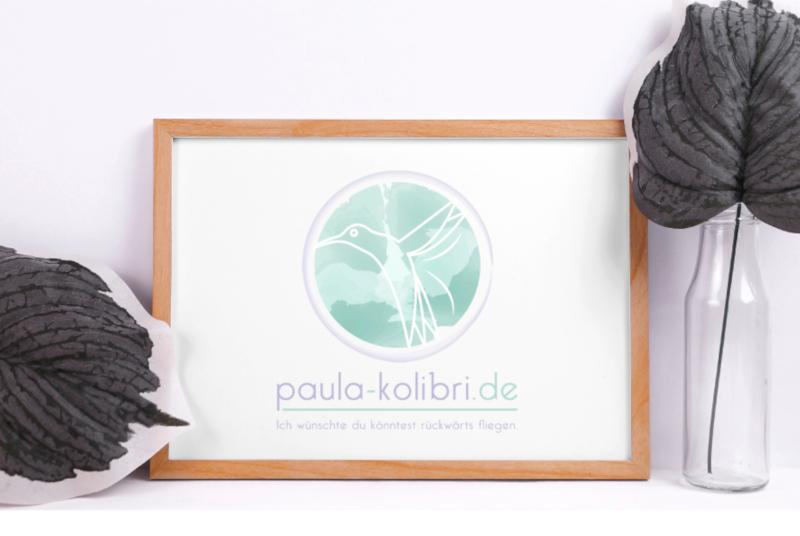 Paula Kolibri Logo mit Farbverlauf
