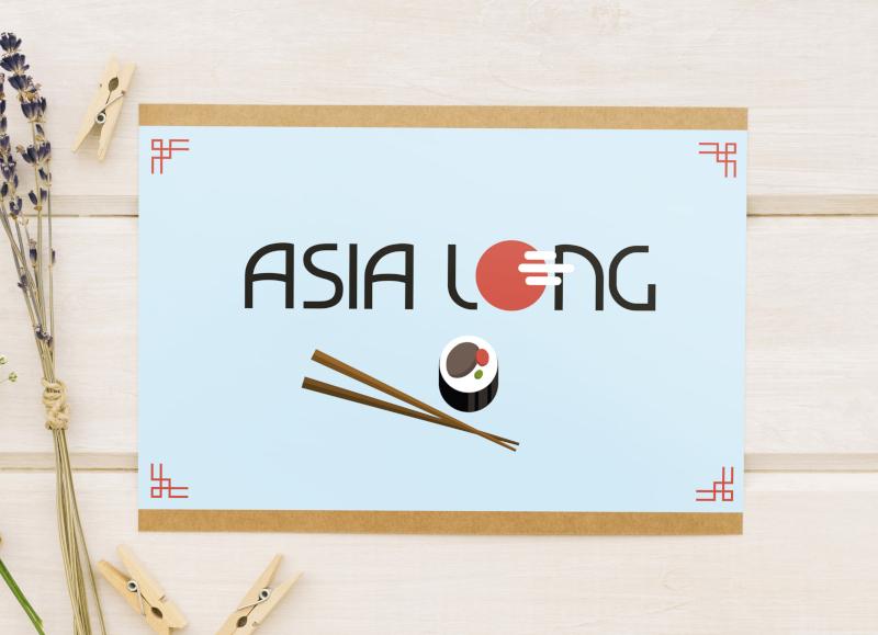 Asia-Long-Sushi-Logo-Designs
