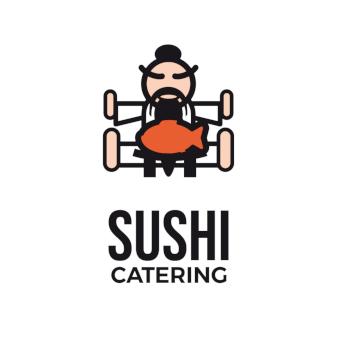 Sushi Catering Logo-Design Sushi