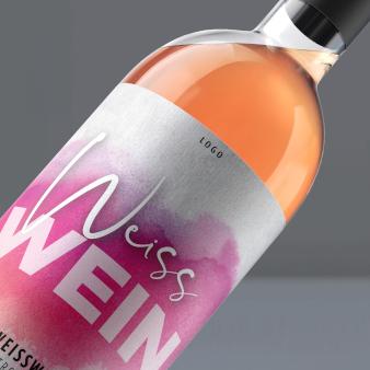 Weisswein-Logo-Design-Wein