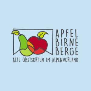 Apfel-Birne-Berge-Obstlogos