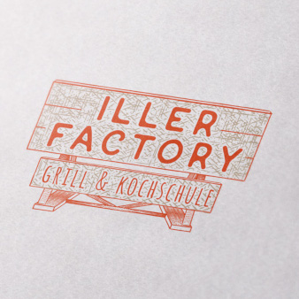 Iller-Factory-Grill-Kochschule-Logo-Design