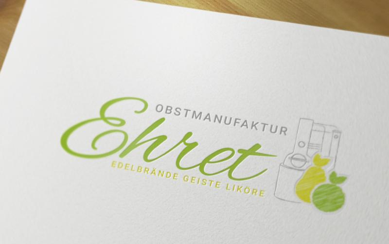 Obstmanufaktur-Ehret-Obstlogo-Design
