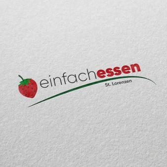 einfach-essen-Obst-Logo-Design