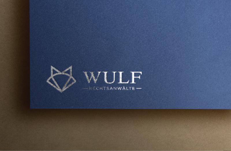Monoline-Logo-Design-Wulf-Rechtsanwaelte
