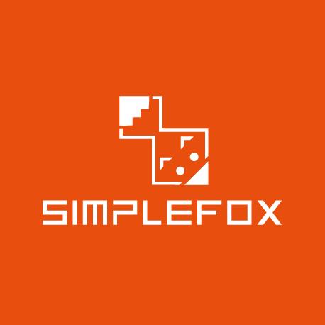 Quadrat Firmenlogo für Werbeagentur & Bookingagentur Simplefox