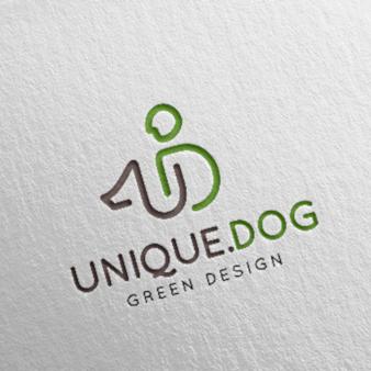 Unique-Dog-Green-Design-One-Line-Logo