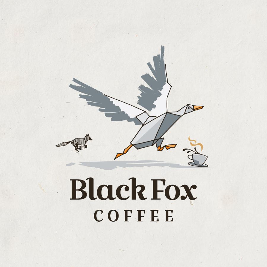 Fuchs Logo für modernen Coffeeshop in Berlin