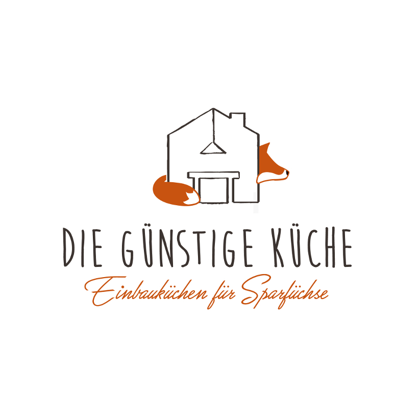 Fuchs Logo & Visitenkarte für Hersteller von Einbauküchen
