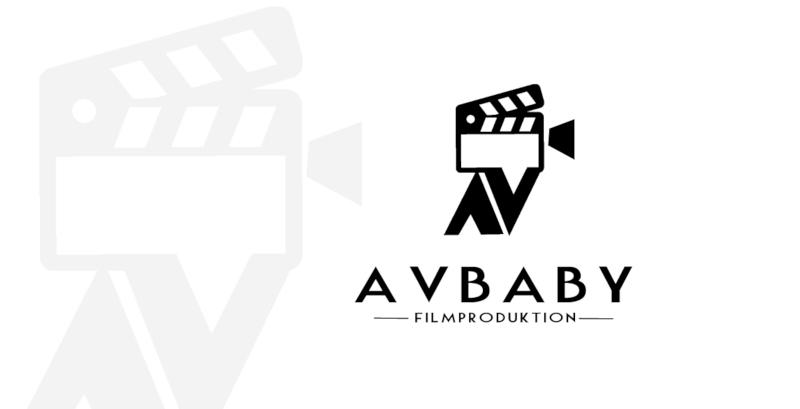 Avbaby-Filmproduktion-Videokamera-Logo-Design