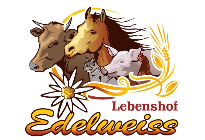 Katzen Logo, Hof Edelweiss