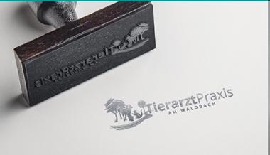 Katzen Logo, Tierarzt Praxis am Waldbach