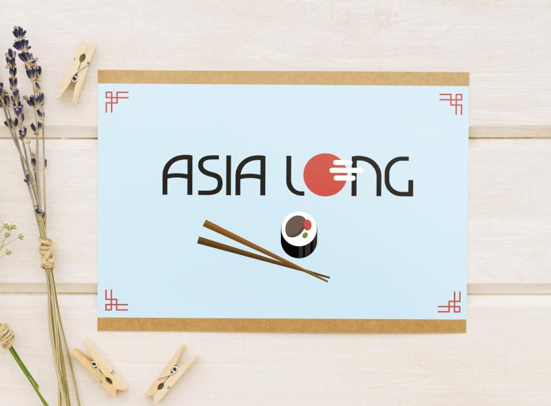 Asia Long Lieferservice Logo-Design