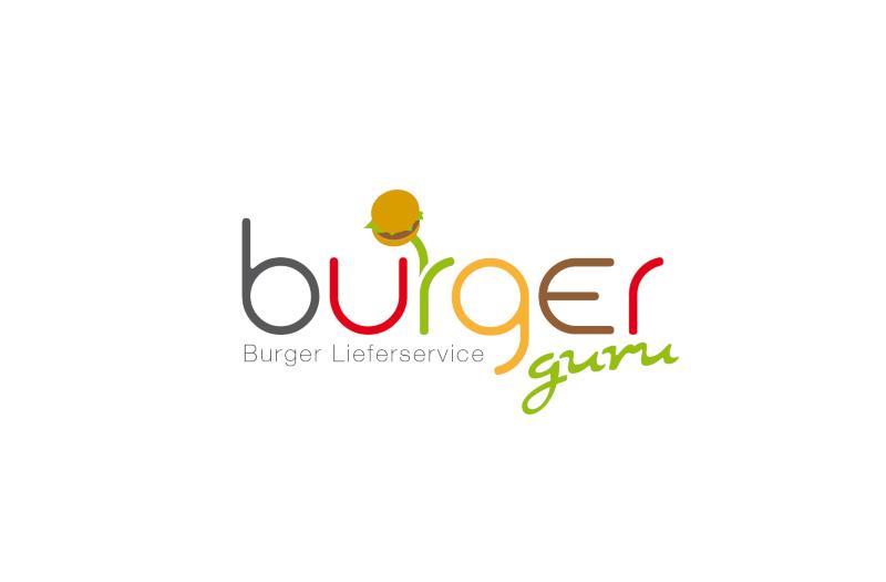 Burger-Lieferservice-Burger-Guru-Logo-Design