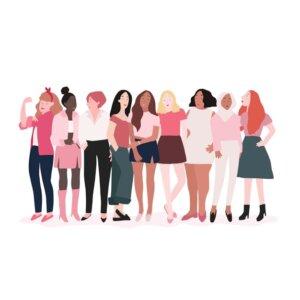 Female Power.Eine Gruppe von Frauen