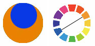 Farbschema 2: Komplementäre Farbkomposition