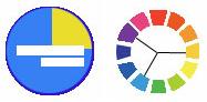 Farbschema 4: Triadische Farbkomposition