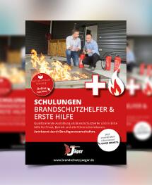 Anzeigengestaltung für Brandschutzdienstleistungen und Schulungen