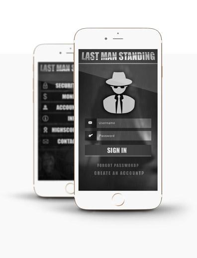 App-Design für Action Game