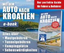 Webbanner-Design für Ebook - Mit dem Auto nach Kroatien