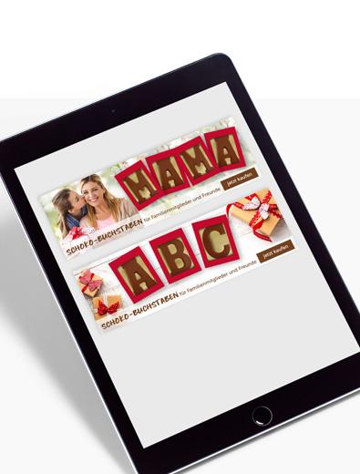 Banner-Design für Schokolade - Banner-Design-Beispiel