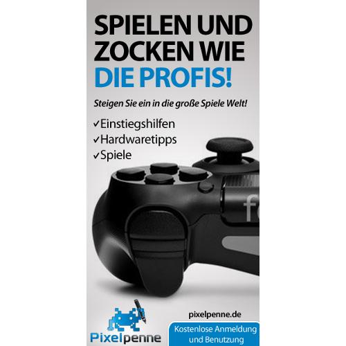 Webbanner-Design für Internetportal über Videospiele